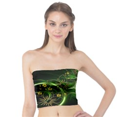 Flora Entwine Fractals Flowers Tube Top by Celenk