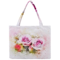 Flower Roses Art Abstract Mini Tote Bag by Celenk