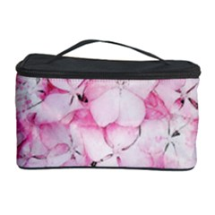 Flower Pink Art Abstract Nature Cosmetic Storage Case by Celenk