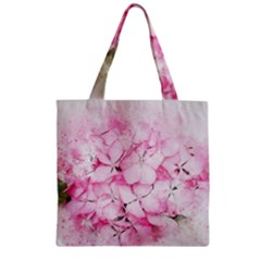 Flower Pink Art Abstract Nature Zipper Grocery Tote Bag