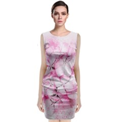Flower Pink Art Abstract Nature Classic Sleeveless Midi Dress