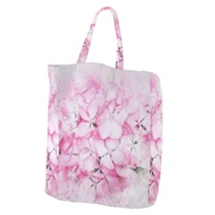 Flower Pink Art Abstract Nature Giant Grocery Zipper Tote