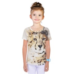 Leopard Animal Art Abstract Kids  One Piece Tee by Celenk