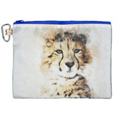 Leopard Animal Art Abstract Canvas Cosmetic Bag (xxl) by Celenk