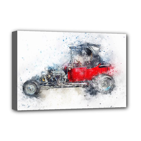 Car Old Car Art Abstract Deluxe Canvas 18  X 12   by Celenk