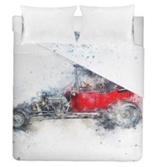 Car Old Car Art Abstract Duvet Cover Double Side (queen Size) by Celenk