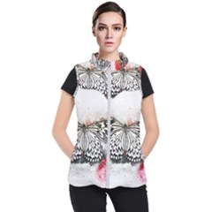 Butterfly Animal Insect Art Women s Puffer Vest by Celenk