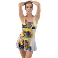 Car Old Art Abstract Swimsuit