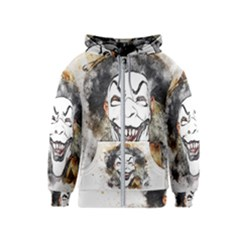 Mask Party Art Abstract Watercolor Kids  Zipper Hoodie