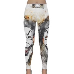 Mask Party Art Abstract Watercolor Classic Yoga Leggings