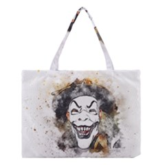 Mask Party Art Abstract Watercolor Medium Tote Bag by Celenk