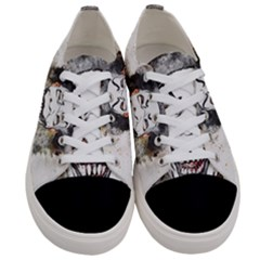 Mask Party Art Abstract Watercolor Women s Low Top Canvas Sneakers