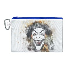 Mask Party Art Abstract Watercolor Canvas Cosmetic Bag (large)