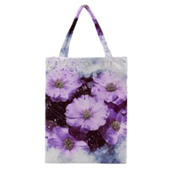 Flowers Purple Nature Art Abstract Classic Tote Bag