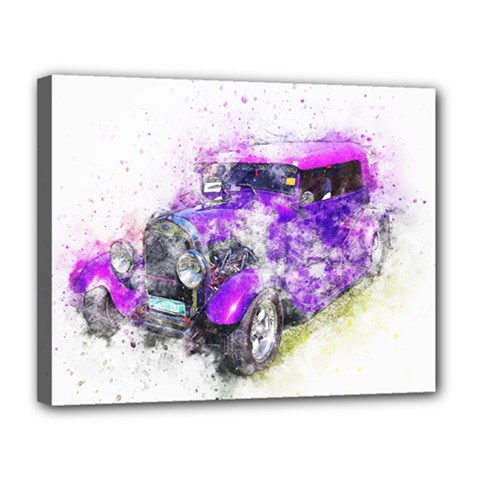 Car Old Car Art Abstract Canvas 14  X 11  by Celenk