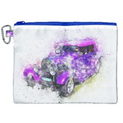 Car Old Car Art Abstract Canvas Cosmetic Bag (xxl) by Celenk