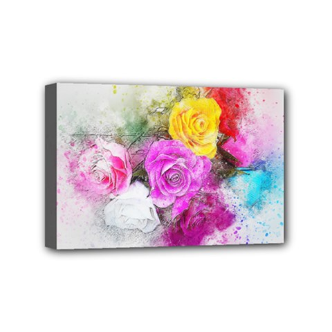 Flowers Bouquet Art Abstract Mini Canvas 6  X 4