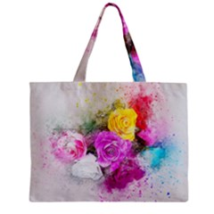 Flowers Bouquet Art Abstract Zipper Mini Tote Bag by Celenk