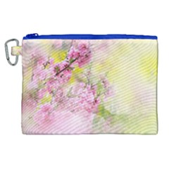 Flowers Pink Art Abstract Nature Canvas Cosmetic Bag (xl) by Celenk