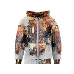 Car Old Car Art Abstract Kids  Zipper Hoodie by Celenk