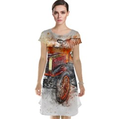 Car Old Car Art Abstract Cap Sleeve Nightdress by Celenk