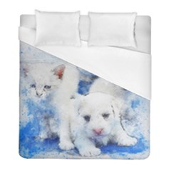 Dog Cats Pet Art Abstract Duvet Cover (full/ Double Size) by Celenk