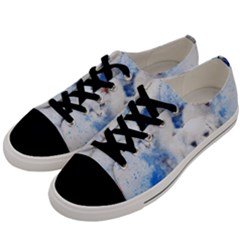 Dog Cats Pet Art Abstract Men s Low Top Canvas Sneakers by Celenk