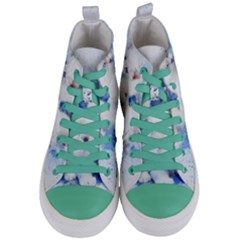 Dog Cats Pet Art Abstract Women s Mid Top Canvas Sneakers