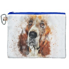 Dog Basset Pet Art Abstract Canvas Cosmetic Bag (xxl) by Celenk