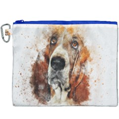 Dog Basset Pet Art Abstract Canvas Cosmetic Bag (xxxl) by Celenk