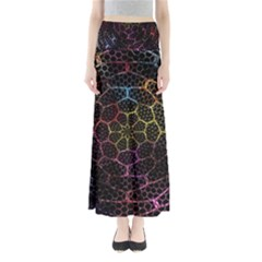 Background Grid Art Abstract Full Length Maxi Skirt