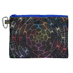 Background Grid Art Abstract Canvas Cosmetic Bag (xl)