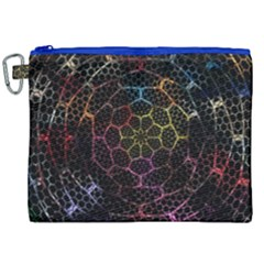 Background Grid Art Abstract Canvas Cosmetic Bag (xxl) by Celenk