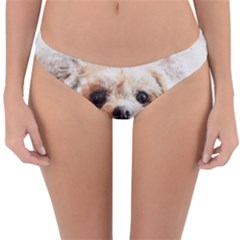 Dog Animal Pet Art Abstract Reversible Hipster Bikini Bottoms