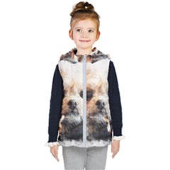 Dog Animal Pet Art Abstract Kid s Puffer Vest
