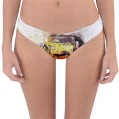 Car Old Car Fart Abstract Reversible Hipster Bikini Bottoms