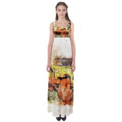 Car Old Car Fart Abstract Empire Waist Maxi Dress