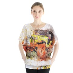 Car Old Car Fart Abstract Blouse by Celenk