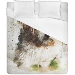 Dog Animal Pet Art Abstract Duvet Cover (california King Size) by Celenk