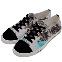 Dog Animal Art Abstract Watercolor Men s Low Top Canvas Sneakers by Celenk