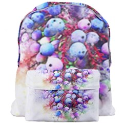 Berries Pink Blue Art Abstract Giant Full Print Backpack