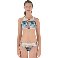 Eye Blue Girl Art Abstract Perfectly Cut Out Bikini Set by Celenk
