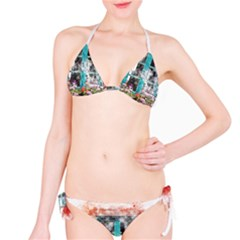 Window Flowers Nature Art Abstract Bikini Set