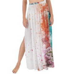 Window Flowers Nature Art Abstract Maxi Chiffon Tie Up Sarong