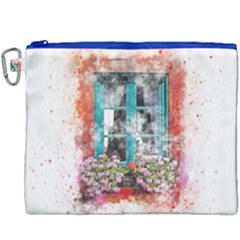 Window Flowers Nature Art Abstract Canvas Cosmetic Bag (xxxl) by Celenk