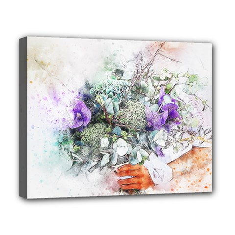 Flowers Bouquet Art Abstract Deluxe Canvas 20  X 16   by Celenk