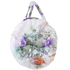 Flowers Bouquet Art Abstract Giant Round Zipper Tote