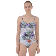 Flowers Bouquet Art Abstract Sweetheart Tankini Set