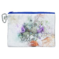 Flowers Bouquet Art Abstract Canvas Cosmetic Bag (xl)