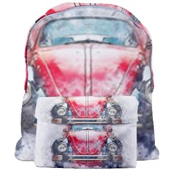 Red Car Old Car Art Abstract Giant Full Print Backpack